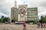 Cuba, Havana, Revolution square Ministry of Communications building