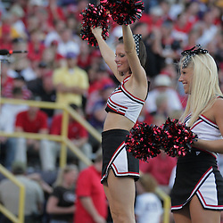 25 October 2008: A Georgia cheerleader performs during the Georgia Bulldogs 52-38 victory over the LSU Tigers at Tiger Stadium in Baton Rouge, LA.