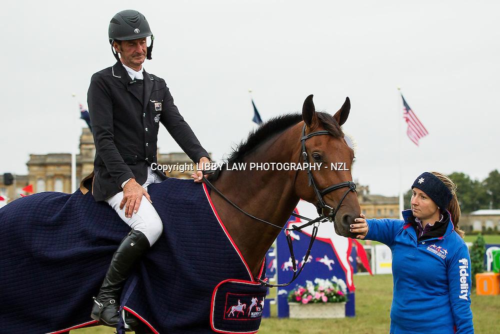 NZL-Sir Mark Todd (LEONIDAS II) CIC3* 8/9YO PRIZEGIVING: FINAL-3RD: 2013 GBR-Fidelity Blenheim Palace International Horse Trial (Sunday 15 September) CREDIT: Libby Law COPYRIGHT: LIBBY LAW PHOTOGRAPHY - NZL