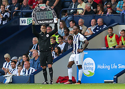 Saido Berahino of West Bromwich Albion is brought on - Rogan Thomson/JMP - 28/08/2016 - FOOTBALL - The Hawthornes - West Bromwich, England - West Bromwich Albion v Middlesbrough - Premier League.