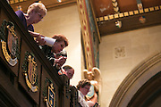 Attendees watch the procession from the balcony during the Chrism Mass at Sacred Heart Cathedral in Rochester on Tuesday, March 31, 2015.