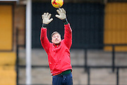 York City goalkeeper Michael Ingham  during the Sky Bet League 2 match between Cambridge United and York City at the R Costings Abbey Stadium, Cambridge, England on 20 February 2016. Photo by Simon Davies.