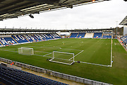 weston holmes community stadium during the EFL Sky Bet League 2 match between Colchester United and Hartlepool United at the Weston Homes Community Stadium, Colchester, England on 25 February 2017. Photo by Ian  Muir.