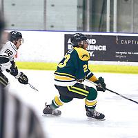 1st year forward, Arthur Miller (23) of the Regina Cougars during the Men's Hockey Home Game on Sat Jan 19 at Co-operators Center. Credit: Arthur Ward/Arthur Images