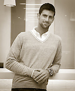Dubai Tennis Championships 2014, ATP Tennis Turnier,International Series,Dubai Tennis Stadium, U.A.E., Novak Djokovic (SRB),Halbkoerper,Hochformat,,