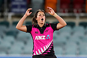 Kate Ebrahim. Women's T20 international Cricket, Australia v New Zealand White Ferns.  Manuka Oval, Canberra, 5 October 2018. Copyright Image: David Neilson / www.photosport.nz