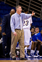 February 27, 2010; San Jose, CA, USA;  San Jose State Spartans head coach George Nessman during the first half against the Fresno State Bulldogs at The Event Center.  San Jose State defeated Fresno State 72-45.