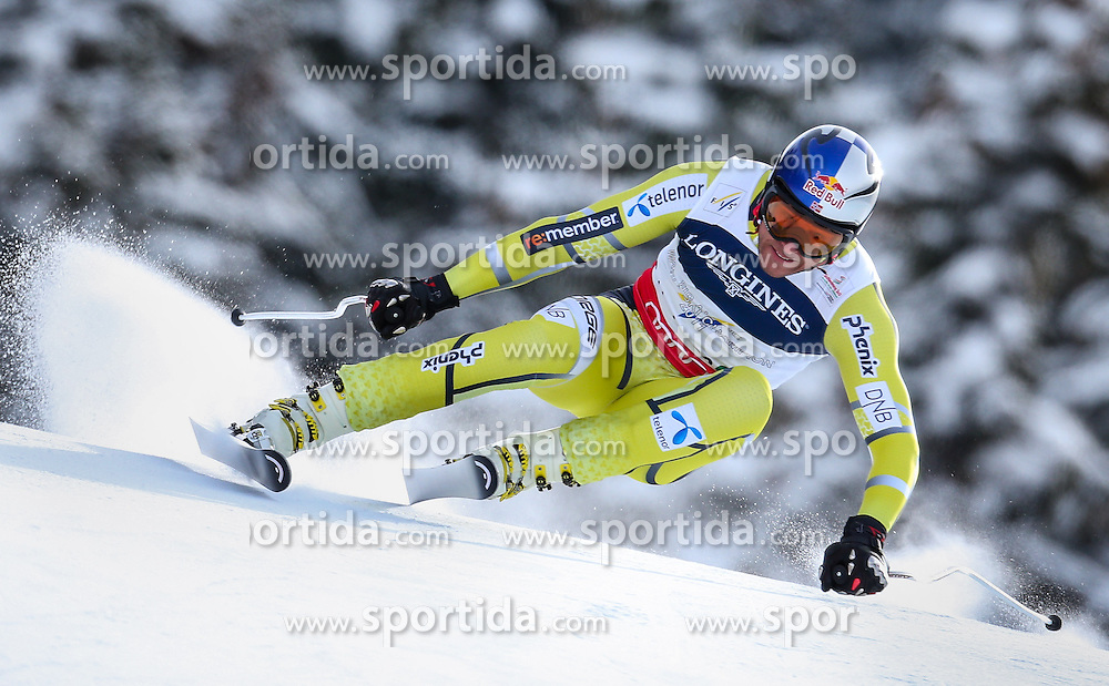11.02.2013, Planai, Schladming, AUT, FIS Weltmeisterschaften Ski Alpin, Super Kombination, Abfahrt, Herren, im Bild  Aksel Lund Svindal (NOR) // Aksel Lund Svindal of Norway  in action during Mens Super Combined Downhill at the FIS Ski World Championships 2013 at the Planai Course, Schladming, Austria on 2013/02/11. EXPA Pictures © 2013, PhotoCredit: EXPA/ Johann Groder