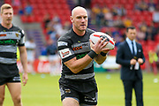 Hull FC loose forward and captain Gareth Ellis (13) warming up  during the Challenge Cup 2017 semi final match between Hull RFC and Leeds Rhinos at the Keepmoat Stadium, Doncaster, England on 29 July 2017. Photo by Simon Davies.
