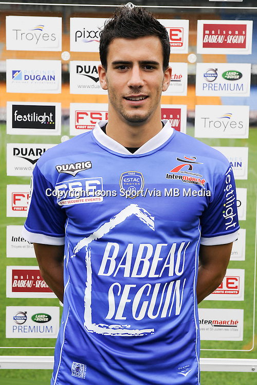 Maxime COLIN - 11.09.2013 - Photo Officielle - Troyes<br /> Photo : Icon Sport