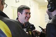A happy post match Nigel Clough after beating Leeds 2-0  during the EFL Sky Bet Championship match between Burton Albion and Leeds United at the Pirelli Stadium, Burton upon Trent, England on 22 April 2017. Photo by John Potts.