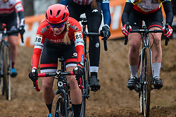 KELLY Siobhan (CAN) during Women Elite race, 2019 UCI Cyclo-cross World Cup Heusden-Zolder, Belgium, 26 December 2019.<br /> <br /> Photo by Pim Nijland / PelotonPhotos.com <br /> <br /> All photos usage must carry mandatory copyright credit (Peloton Photos | Pim Nijland)