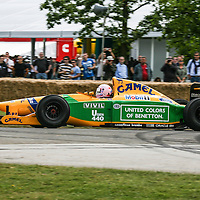 1992 Benetton B192 Chassis Number: B 192-02 at Goodwood Festival of Speed 2008