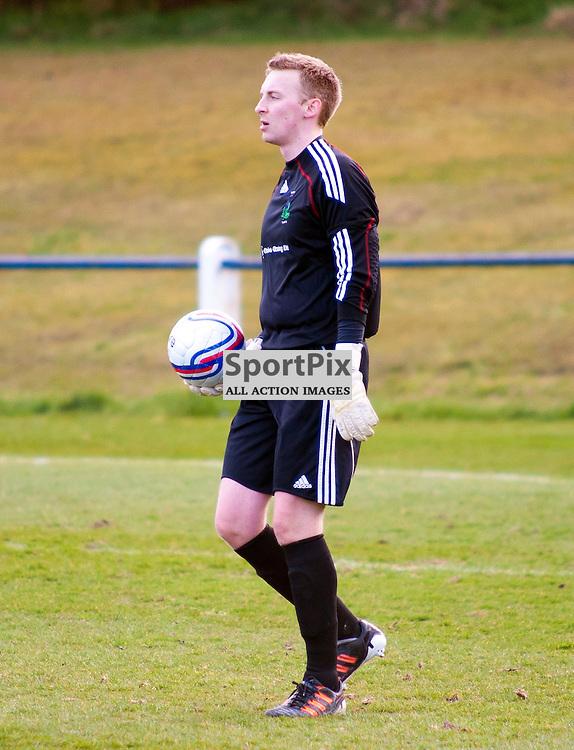 Bathgate v Lochee, Creamery Park,31/03/12, Bathgate keeper Marc Lunn
