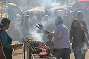 Israeli people Barbecuing in the park