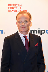 Alistair Petrie poses as arriving for the opening ceremony of the MIPCOM in Cannes - Marche international des contenus audiovisuels du 16-19 Octobre 2017, Palais des Festivals, Cannes, France.<br />