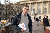 05 FEB 2003, BERLIN/GERMANY:<br /> Bence Bauer, Schatzmeister Ring Christlich-Demokratischer Studenten, RCDS, Humbold Universitaet (Bauer studiert nicht hier)<br /> IMAGE: 20030205-02-017