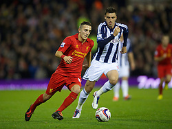 26.09.2012, The Hawthorns, West Bromwich, ENG, Capital One Cup, West Bromwich Albion vs FC Liverpool, im Bild Liverpool's Samed Yesil in action against West Bromwich Albion during the 3rd Round Match of Capital One Cup between West Bromwich Albion vs Liverpool FC at the Hawthorns, West Bromwich, United Kingdom on 2012/09/26. EXPA Pictures © 2012, PhotoCredit: EXPA/ Propagandaphoto/ David Rawcliff..***** ATTENTION - OUT OF ENG, GBR, UK *****