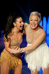 Dancing on Ice Photocall Sheffield Motorpoint Arena .Hayley Tamaddon and Denise Welch..7 April 2011.Images © Paul David Drabble