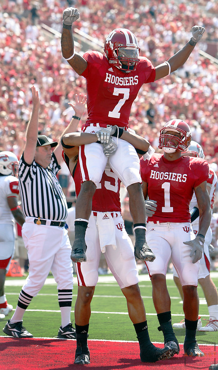 30 August 2008: Indiana's Ray Fisher as the Indiana Hoosiers played the Western Kentucky Hill Toppers in a college football game in Bloomington, Ind.