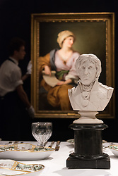 © Licensed to London News Pictures. 11/01/2018. London, UK. A Coalport Parian bust of Lord Nelson dated 1853  with an estimate of £500-£800. Photo credit: Ray Tang/LNP