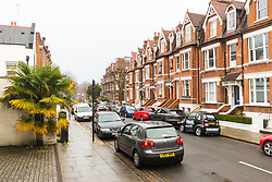 Willoughby Road, just off Hampstead High Street in North London where a flat measuring 8ft 4in X 8ft 2in has gone on the market. Hampstead, London, January 25 2019.