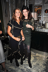Left to right, TRACEY EMIN and RONNI ANCONA at a dinner hosted by Ruinart in honour of Amanda Wakely at The Connaught, Carlos Place, London on 20th October 2010.