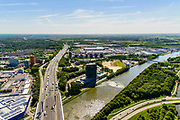 Nederland, Utrecht, Utrecht, 13-05-2019; kruising Amsterdam-Rijnkanaal met A12 (Ring Utrecht). Aan het water Westraven, hoofdkantoor van Rijkswaterstaat.<br /> Channel Amsterdam-Rijnkanaal, intersection with A12 (Utrecht ring road). At the waterfront Westraven, Rijkswaterstaat head office.<br /> <br /> luchtfoto (toeslag op standard tarieven);<br /> aerial photo (additional fee required);<br /> copyright foto/photo Siebe Swart