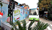 SHANGHAI, CHINA - OCTOBER 26: (CHINA OUT) <br /> <br /> Bus Classroom<br /> <br /> Students of the No.2 Penglai Road Primary School have classes in a rebuilt buss on October 26, 2015 in Shanghai, China. The No.2 Penglai Road Primary School rebuilt a disused buss into a classroom with a mini library in the back of the buss. <br /> ©Exclusivepix Media