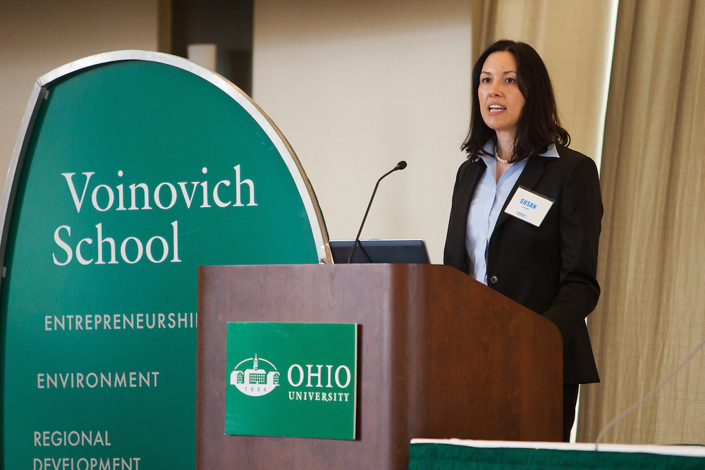 Susan Brehm, Regional Counsel for the U.S. Department of Commerce  Economic Development Administration speaks at the 3rd annual Appalachian Ohio Sate of the Region Conference May 20, 2014.  Photo by Ohio University / Jonathan Adams