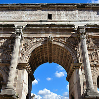 Arch of Septimius Severus at Roman Forum in Rome, Italy<br />