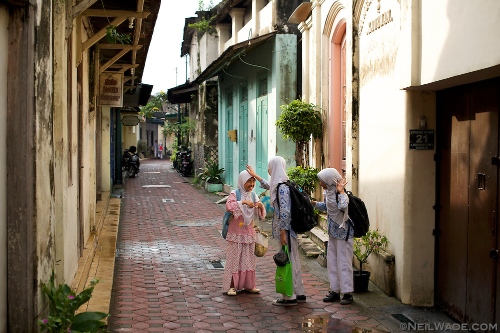 Solokarta had some nice, traditional streets to walk around.  These girls are walking home from their madrasa.