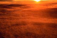Sunrise winter windstorm (groundstorm blowing snow to North Dakota)