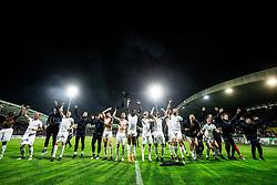 Players of NK Olimpija Ljubljana celebrate after winning during football match between NK Maribor and NK Olimpija Ljubljana in 34th Round of Prva liga Telekom Slovenije 2017/18, on May 19, 2018, in Stadion Ljudski vrt, Maribor, Slovenia. Photo by Vid Ponikvar / Sportida