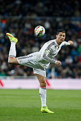 15.03.2015, Estadio Santiago Bernabeu, Madrid, ESP, Primera Division, Real Madrid vs UD Levante, 27. Runde, im Bild Real Madrid´s Cristiano Ronaldo // during the Spanish Primera Division 27th round match between Real Madrid CF and UD Levante at the Estadio Santiago Bernabeu in Madrid, Spain on 2015/03/15. EXPA Pictures © 2015, PhotoCredit: EXPA/ Alterphotos/ Victor Blanco<br /> <br /> *****ATTENTION - OUT of ESP, SUI*****