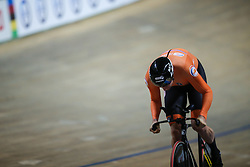 March 1, 2019 - Pruszkow, Poland - Theo Bos of the Netherlands competes on his way to winning the Silver medal in the Mens 1 km time trial on day three of the UCI Track Cycling World Championships held in the BGZ BNP Paribas Velodrome Arena on March 01, 2019 in Pruszkow, Poland. (Credit Image: © Foto Olimpik/NurPhoto via ZUMA Press)