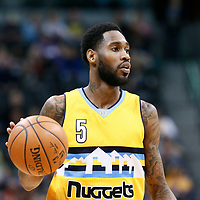 04 March 2017: Denver Nuggets guard Will Barton (5) brings the ball up court during the Charlotte Hornets 112-102 victory over the Denver Nuggets, at the Pepsi Center, Denver, Colorado, USA.