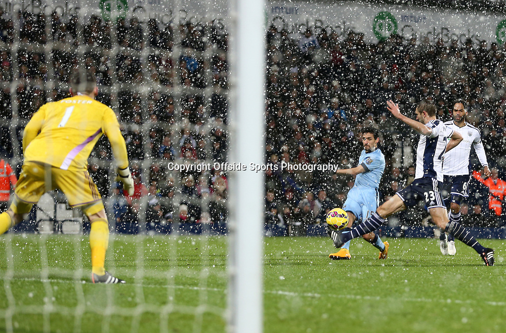 26th December 2014 - Barclays Premier League - West Bromwich Albion v Manchester City - Jesus Navas of Manchester City his a shot just wide - Photo: Paul Roberts / Offside.
