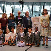 """City Hall, London, Uk, 29th June 2017. Highfield Junior School, La Fontaine Academy, St Philomena's CP School, St Peter and St Paul Catholic Primary Academy, Warren Road Promary """"silver Awards"""" of the City Hall awards at the Health and education experts celebrate London's healthiest schools."""
