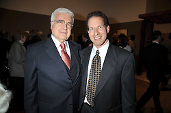 Left to right, American civil procedure scolar ARTHUR R MILLER and his son MATTHEW MILLER at a private view of the Kuniyoshi exhibition at the Royal Academy, Piccadilly, London on 17th March 2009.