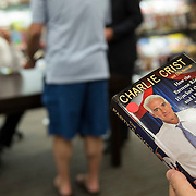 Former Governor Charlie Crist signs his new book for dozens waiting in line at Books-a-Million on Fort Myers, Fla.  <br /> <br /> Profile of the former governor Charlie Crist on the campaign trail running for governor in Florida.