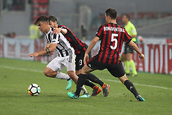 May 9, 2018 - Rome, Lazio, Italy - Paulo Dybala (Juventus FC) and Patrick Cutrone (AC Milan) competes for the ball during the Italian Cup final match between Juventus FC and AC Milan at Stadio Olimpico on May 09, 2018 in Rome, Italy. .Juventus won 4-0 over Milan. (Credit Image: © Massimiliano Ferraro/NurPhoto via ZUMA Press)
