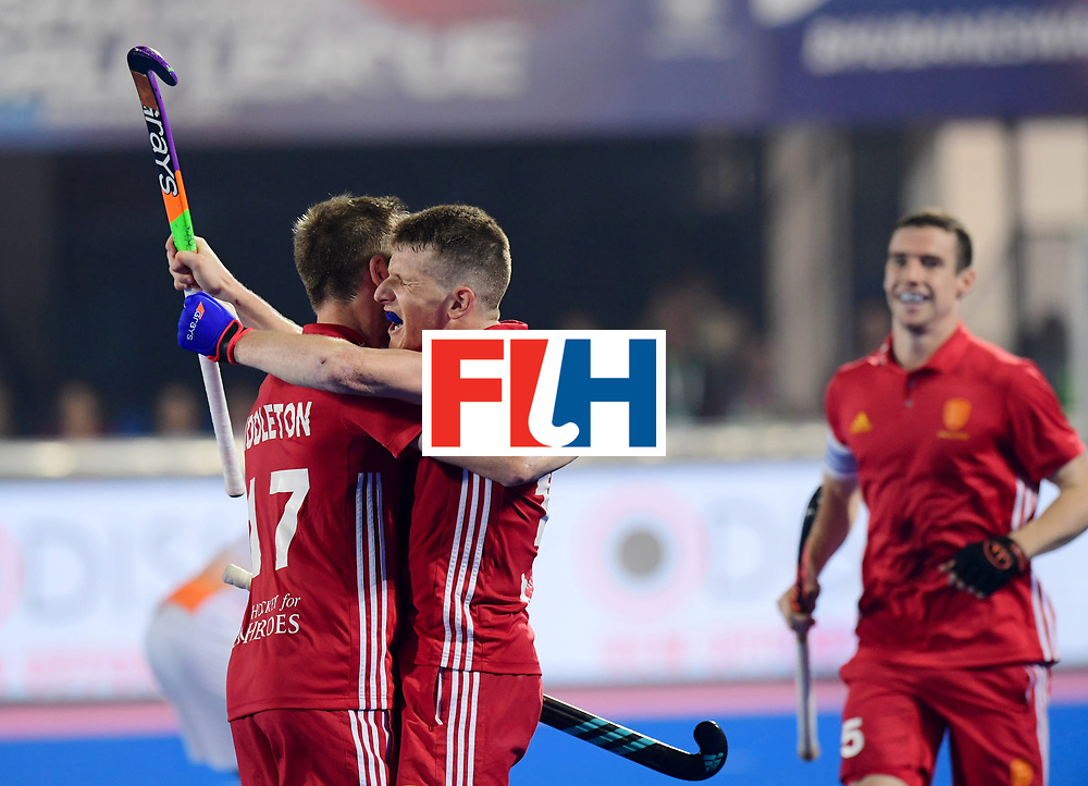 Odisha Men's Hockey World League Final Bhubaneswar 2017<br /> Match id:05<br /> 06 IND v ENG (Pool B)<br /> Foto: Sam Ward (Eng) scores 2-3<br /> WORLDSPORTPICS COPYRIGHT FRANK UIJLENBROEK