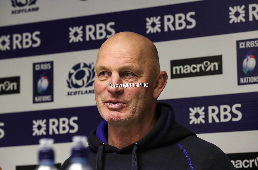 RBS 6 Nations Championship Round 1, BT Murrayfield, Scotland 4/2/2017<br /> Scotland vs Ireland<br /> Scotland head coach Vern Cotter at the post match press conference <br /> Mandatory Credit &copy;INPHO/Billy Stickland
