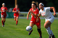 29 MAY 2010 -- FENTON, Mo. -- Cor Jesu Acadmey soccer player  Lizzie Jansen (21) battles Incarnate Word Academy's McKenzie Combs (9) for control of the ball in the first half during the MSHSAA Class 3 girls' soccer quarterfinal at the A-B Center in Fenton, Mo. Saturday, May 29, 2010. CJA won, 1-0, in overtime. Photo © copyright 2010 by Sid Hastings.