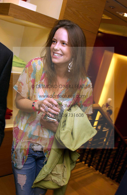 MISS ARABELLA MUSGRAVE at a party hosted by Burberry to launch their special collection in aid of Breakthrough Breast Cancer, held at 21-23 New Bond Street, London W1 on 5th October 2004.<br /><br />NON EXCLUSIVE - WORLD RIGHTS