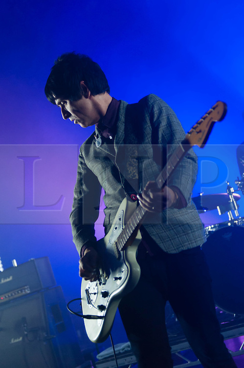 """© Licensed to London News Pictures. 15/03/2013. London, UK.   Johnny Marr performing live at Shepherds Bush Empire. Currently promoting his debut solo album """"The Messenger"""", Marr is renowned for his time with The Smiths as co-songwriter & guitarist alongside Morrissey between 1982-1987.   Photo credit : Richard Isaac/LNP"""