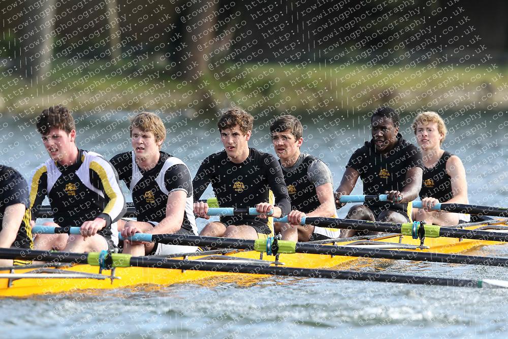 2012.02.25 Reading University Head 2012. The River Thames. Division 1. Oratory School Boat Club B J18A 8+
