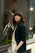 IRINA LAZAREANU, Design Your Own Timberland breakfast and Autumn/ Winter 2011 preview. Timberland. 1 Fournier St. London. Followed by an art tour by Julia Royce. 8 June 2011. <br /> <br />  , -DO NOT ARCHIVE-© Copyright Photograph by Dafydd Jones. 248 Clapham Rd. London SW9 0PZ. Tel 0207 820 0771. www.dafjones.com.