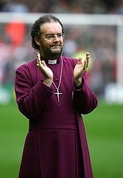 LIVERPOOL, ENGLAND - SUNDAY MARCH 27th 2005: The Right Reverend James Stuart Jones Bishop of Liverpool during the Tsunami Soccer Aid match at Anfield. (Pic by David Rawcliffe/Propaganda)